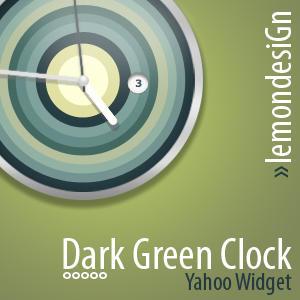 Dark Green Clock by lemondesign