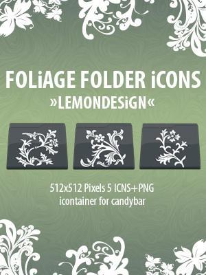 Foliage Folder Icons by lemondesign