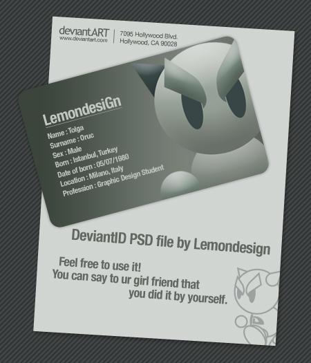 Deviant-ID PSD by lemondesign