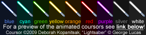 Lightsaber Coursor Set by Kopanitsak
