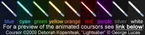 Lightsaber Coursor Set by Kopanitsak