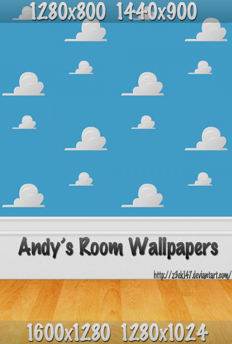 gallery for toy story clouds andys room wallpaper