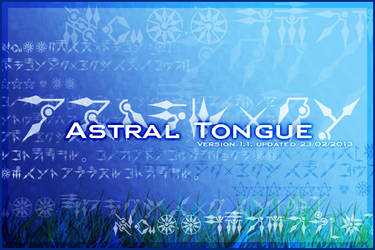 Font: Astral Tongue --UPDATE: VERSION 1.1 by cocktail-mafia