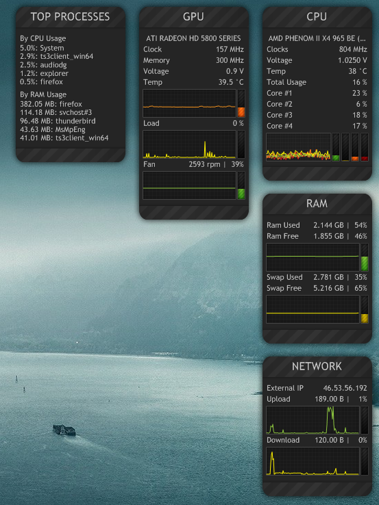 Systemmonitor 0 9 Fixed Reuploaded By Ahmed 90 On Deviantart