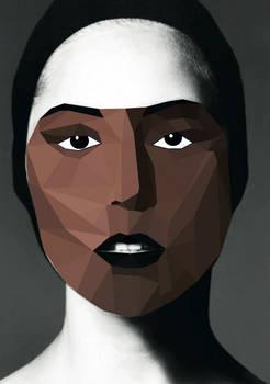 Lady Gaga cubistic portrait