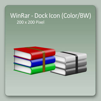 WinRar - Dock Icons by lexhart
