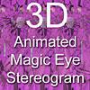 3D Pink Stereogram