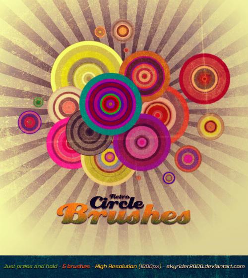 Retro Circle Brushes by skyrider2000