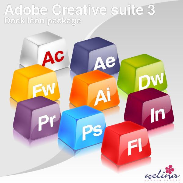Adobe CS3 Dock Icons by GensouRay