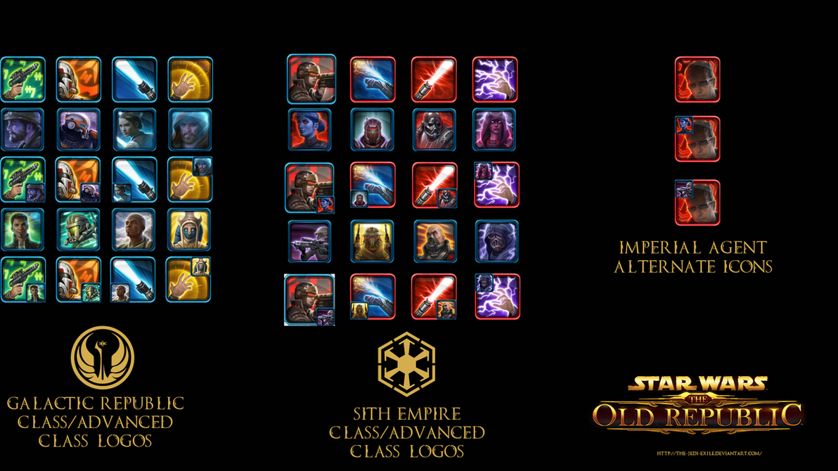 SWTOR Class and Advanced Class Icons by The-Jedi-Exile