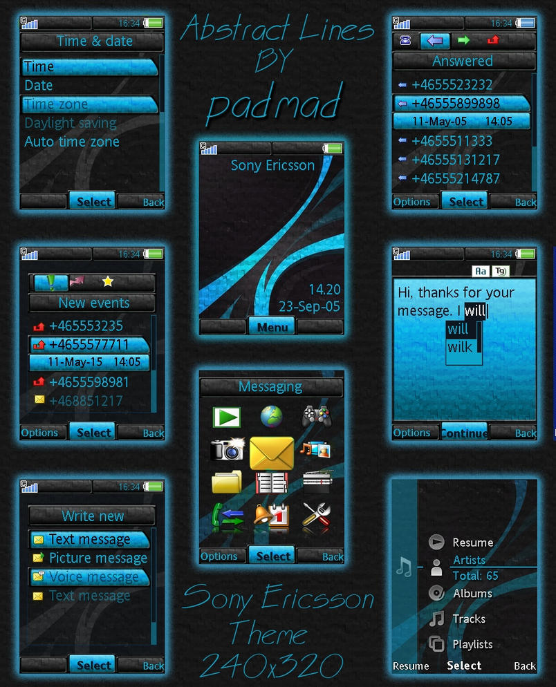 Blue lines theme-v4.5,4.6,4.7 by padmad on deviantART