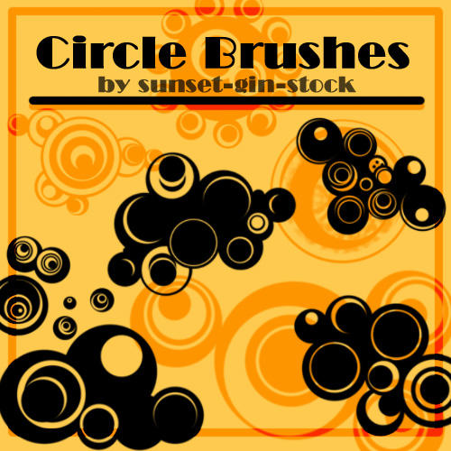 Circle Brushes by sunset-gin-stock