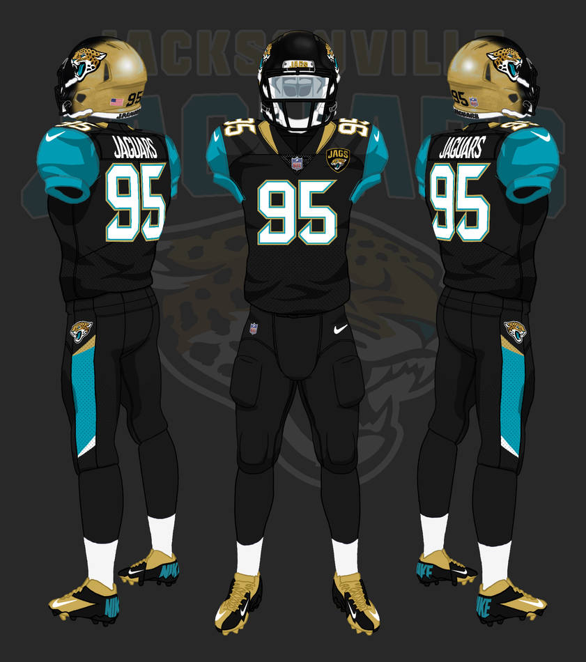 sports shoes 786d3 6d164 Jacksonville Jaguars 2013 - 2017 uniforms by ...