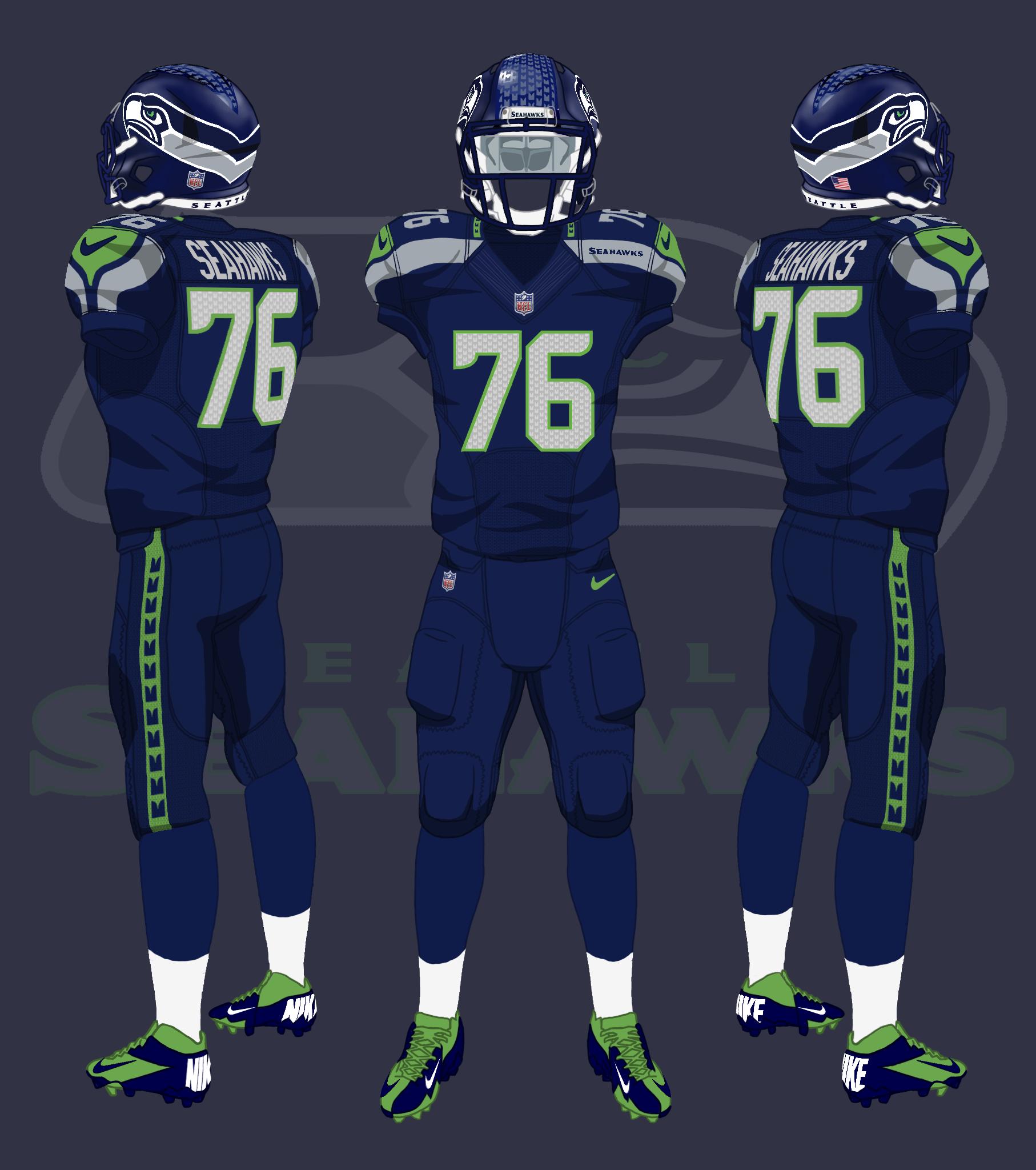 Seattle Seahawks Uniforms By Coachfieldsofnola On Deviantart