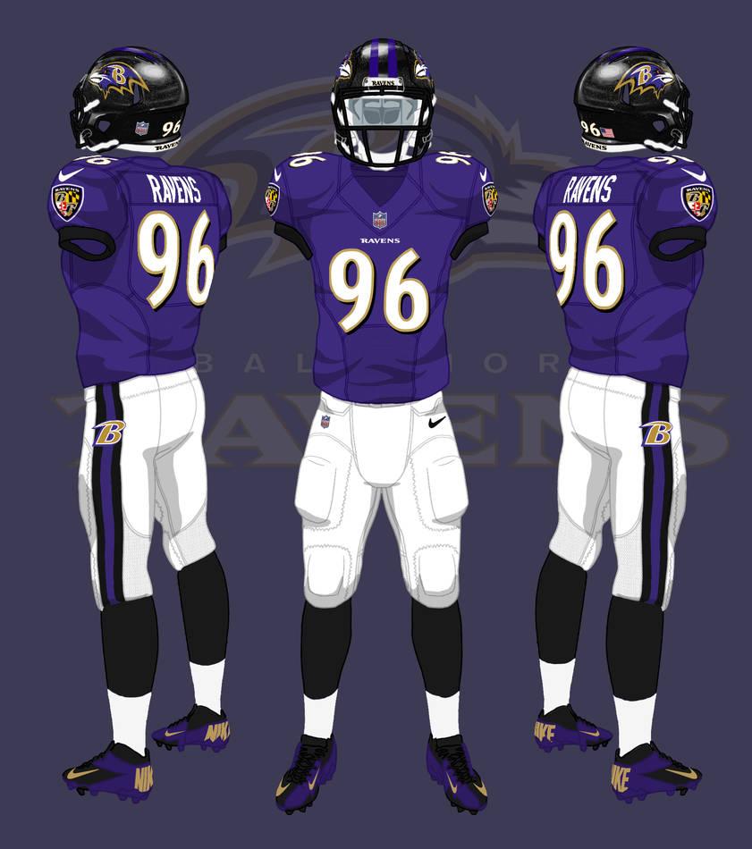 Baltimore Ravens Uniforms By Coachfieldsofnola On Deviantart
