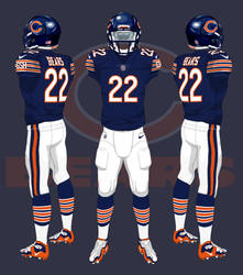 e2f2dd3f278 NFL uniforms. Chicago Bears Uniforms by CoachFieldsOfNOLA