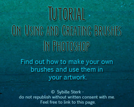 Photoshop Brushes - Tutorial