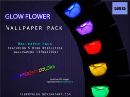 Glow Flower Wallpaper Pack