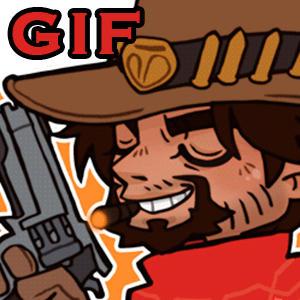 MGS x Overwatch - Cowboy fan (crossover)