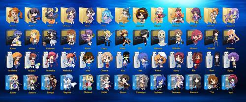 Chibi Anime Drive Icons by Shnushnu