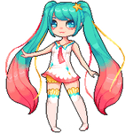Twinkle Star Miku Page Doll