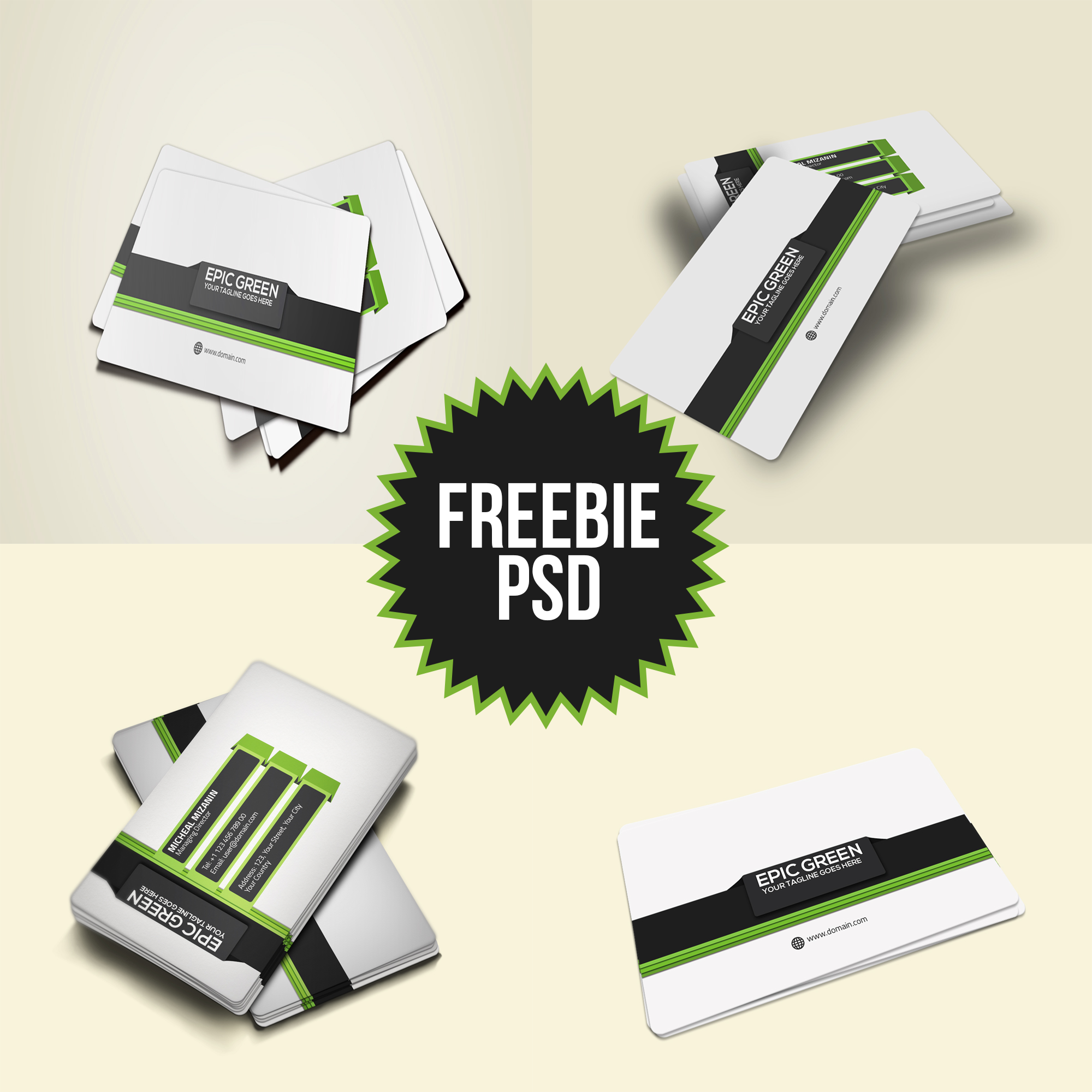 freebie corporate business card psd template by mehranchy on