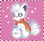 snow festival shiny alolan vulpix by Its-Commander-Cookie