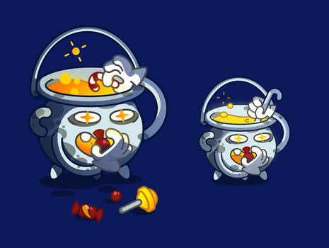 Animation Witch's cauldron