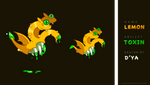 [OPEN] ANIMATION Adopt Auction - Lemon dragon by Dyavlnchk