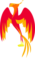 Celestia's pet phoenix Philomena