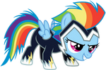 Rainbow Dash Filly in a Zap Costume