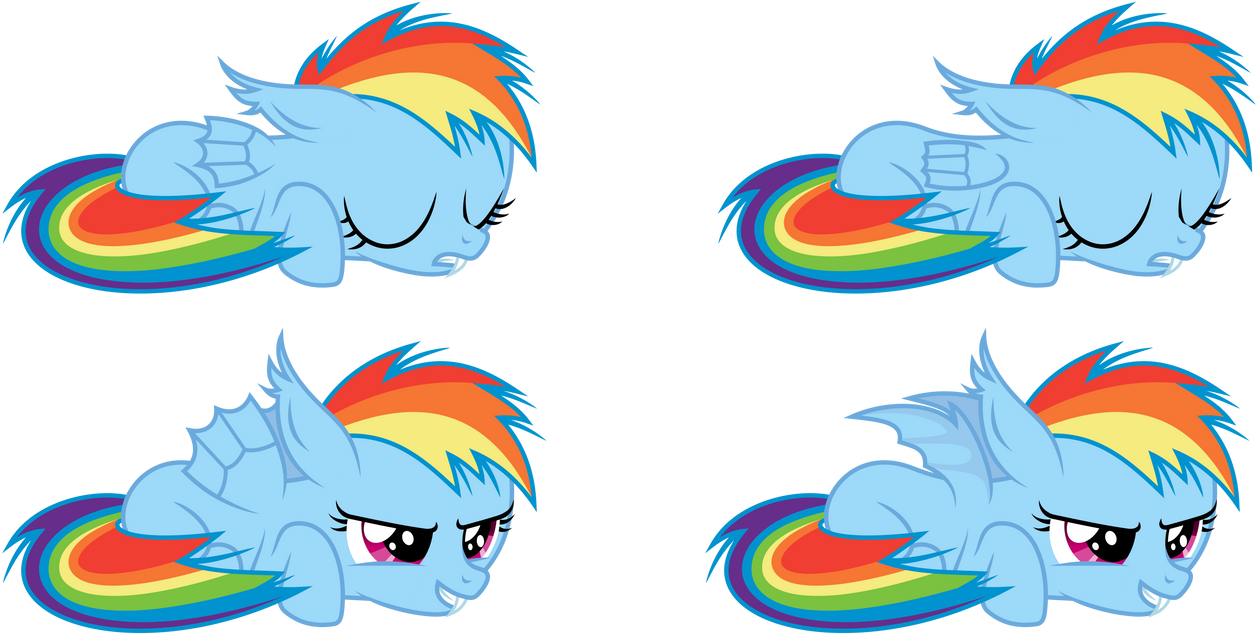 Rainbow Dash Batfilly Sleeping Awake By Imageconstructor On Deviantart