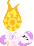 Celestia Filly playing with the Sun