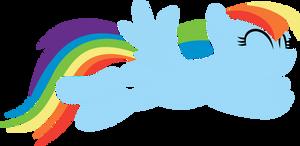 Rainbow Dash Jumping by imageconstructor