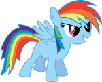 Rainbow Dash Filly by imageconstructor