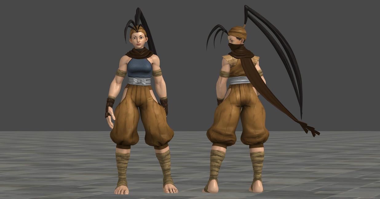 sfv ibuki c7 nostalgia costume updated by chrissy tee on deviantart