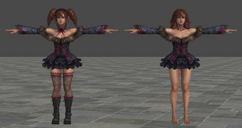 SCVI Amy Alternate Costume XPS Model by Chrissy-Tee