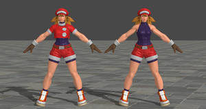 SFV Sakura's Roll costume XPS Model