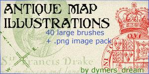 Antique Map Illustrations