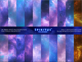 20 FREE SPACE BACKGROUNDS - PACK 1