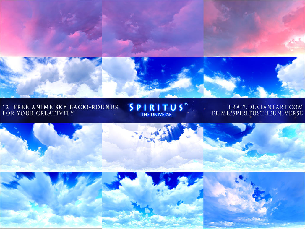 12 free anime sky backgrounds - pack 6era-7 on deviantart