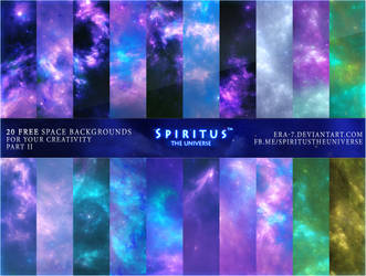 20 FREE SPACE BACKGROUNDS - PACK 13