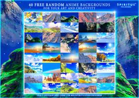 40 FREE RANDOM ANIME BACKGROUNDS - PACK 14 by ERA-7