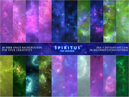 20 FREE SPACE BACKGROUNDS - PACK 23