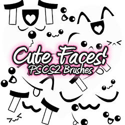 Cute Face PSCS2 Brush by xlilbabydragonx