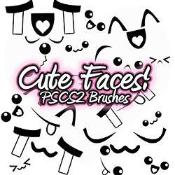 Cute Face PSCS2 Brush by xlilbabydragonx