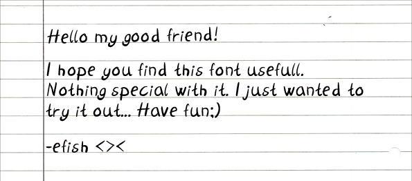 My handwriting.. by efish