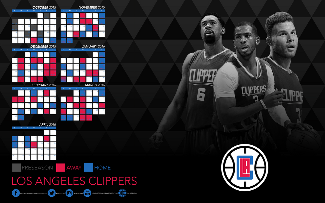 los angeles clippers 2015 2016 schedule wallpapers by