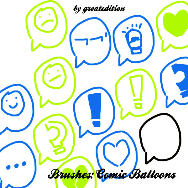 Brushes: Comic Balloons by greatedition