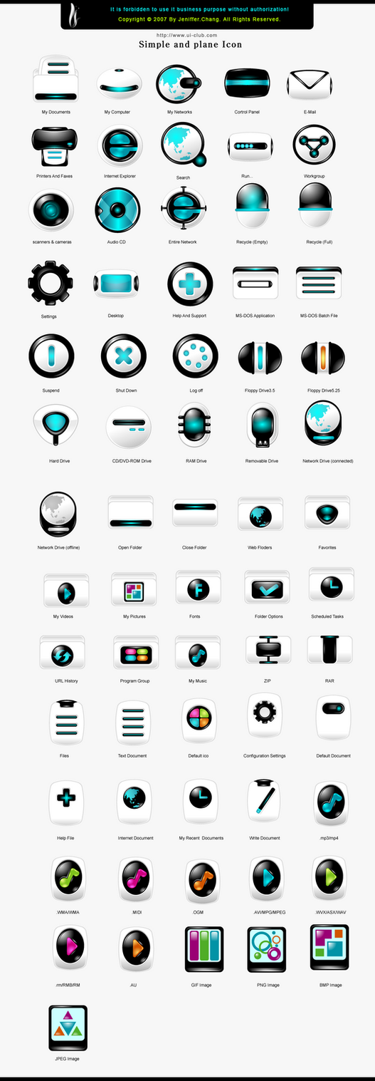 Simple and plane icons by jenifferchang